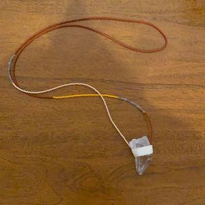 Handmade beaded and quartz necklace